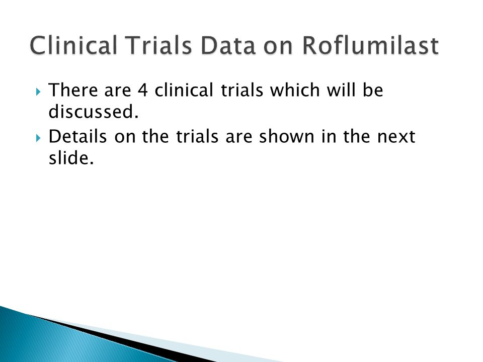 Clinical Trials Data on Roflumilast