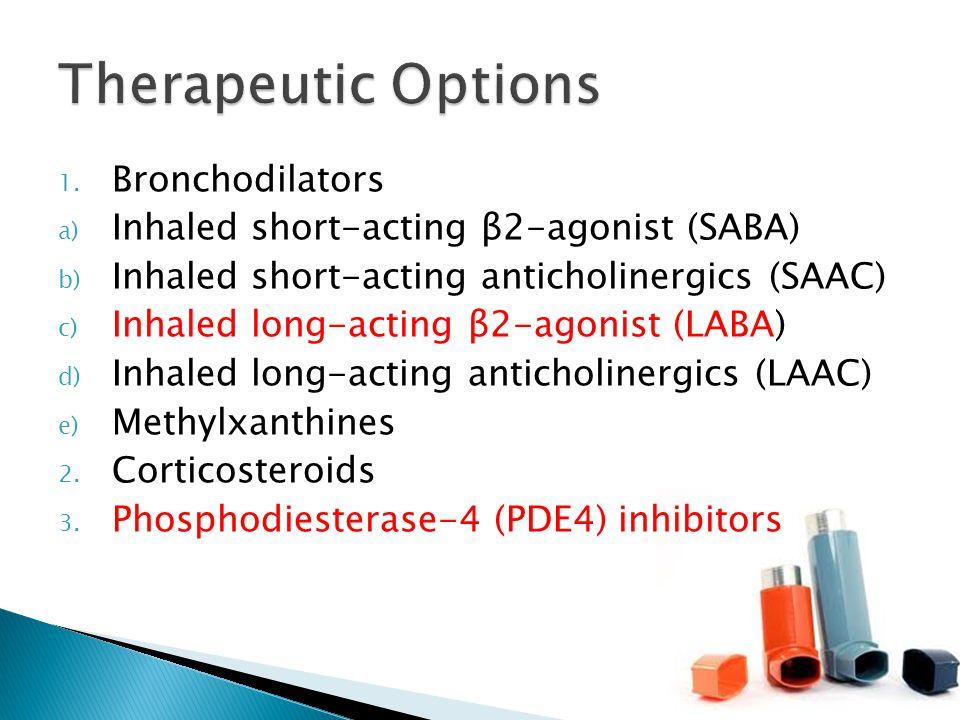 Therapeutic Options Bronchodilators