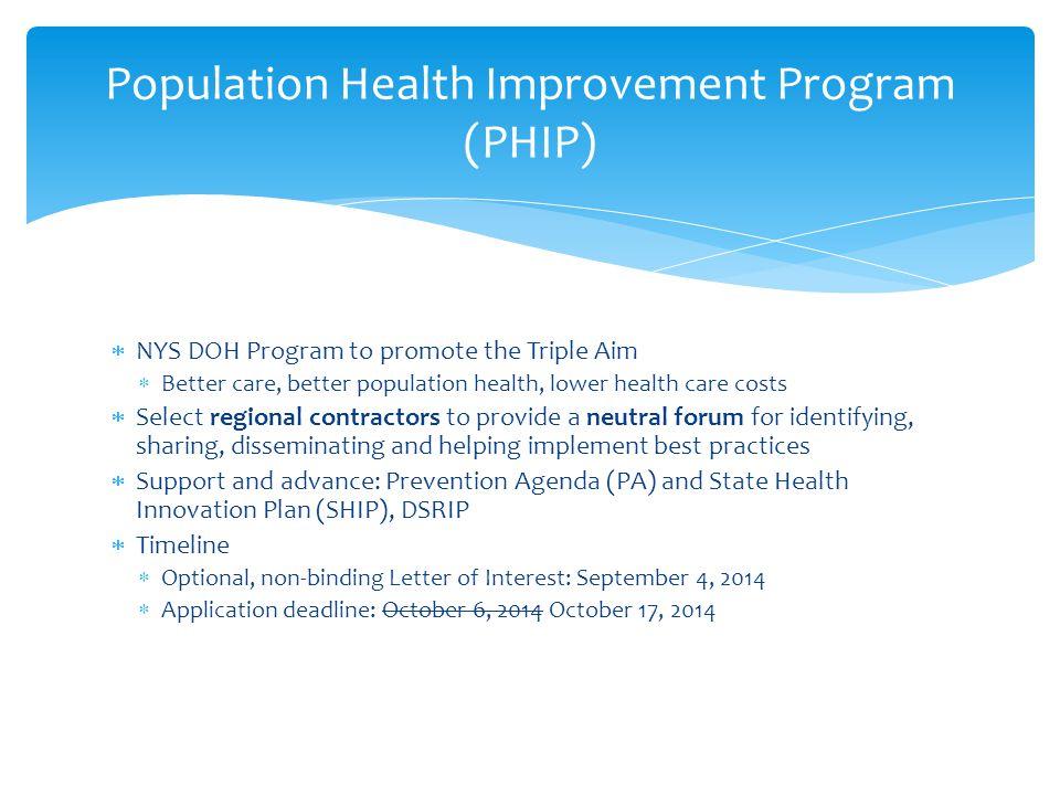 Population Health Improvement Program (PHIP)