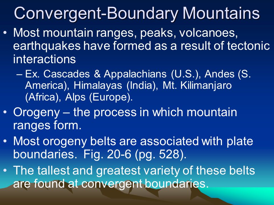 Convergent-Boundary Mountains