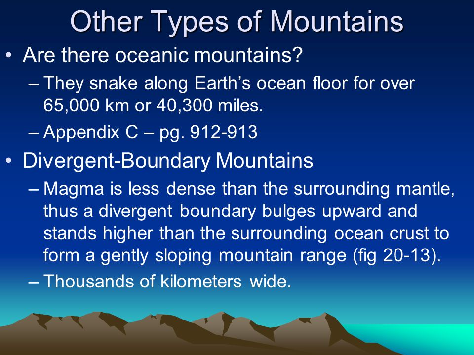 Other Types of Mountains