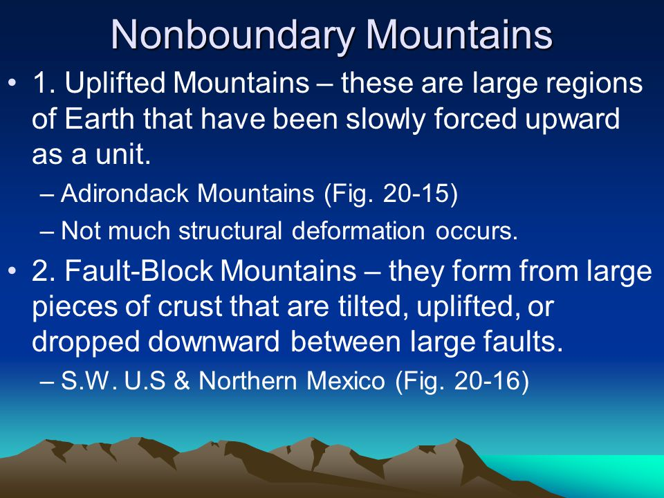Nonboundary Mountains