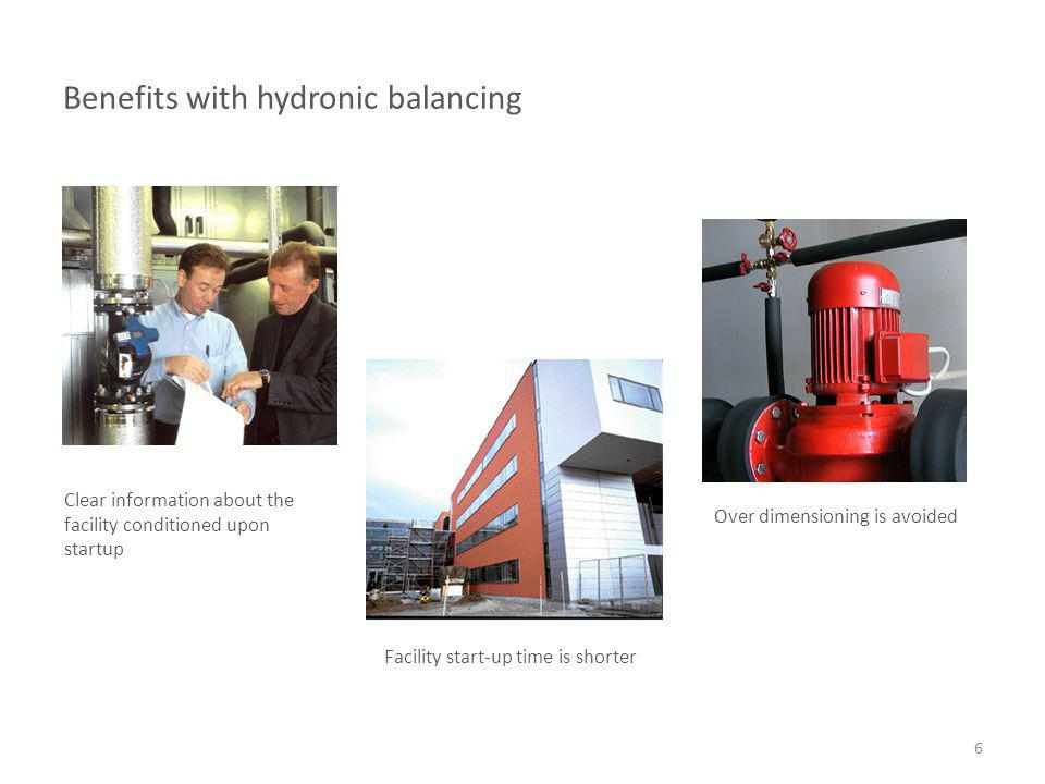 Benefits with hydronic balancing
