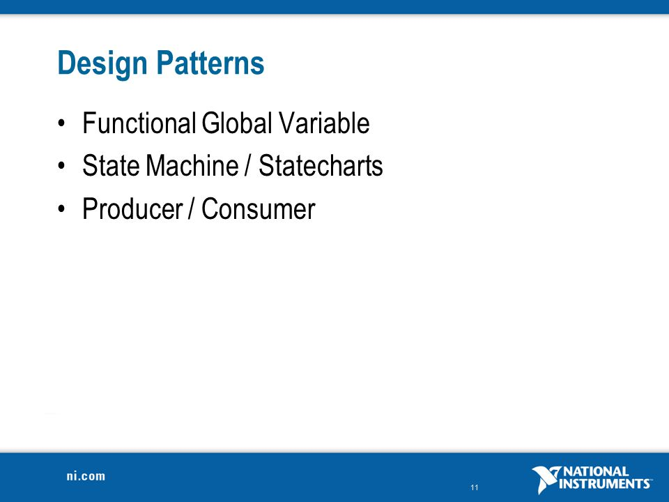 Design Patterns Functional Global Variable State Machine / Statecharts