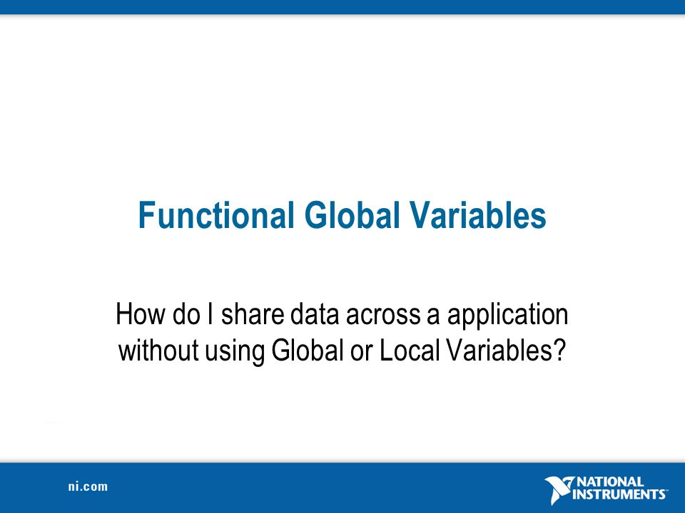 Functional Global Variables