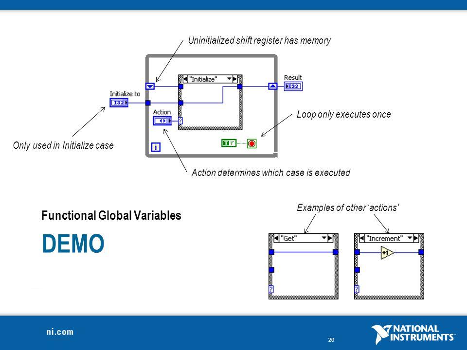 Demo Functional Global Variables