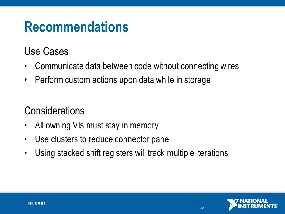 Recommendations Use Cases Considerations