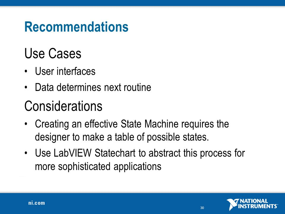 Recommendations Use Cases Considerations User interfaces