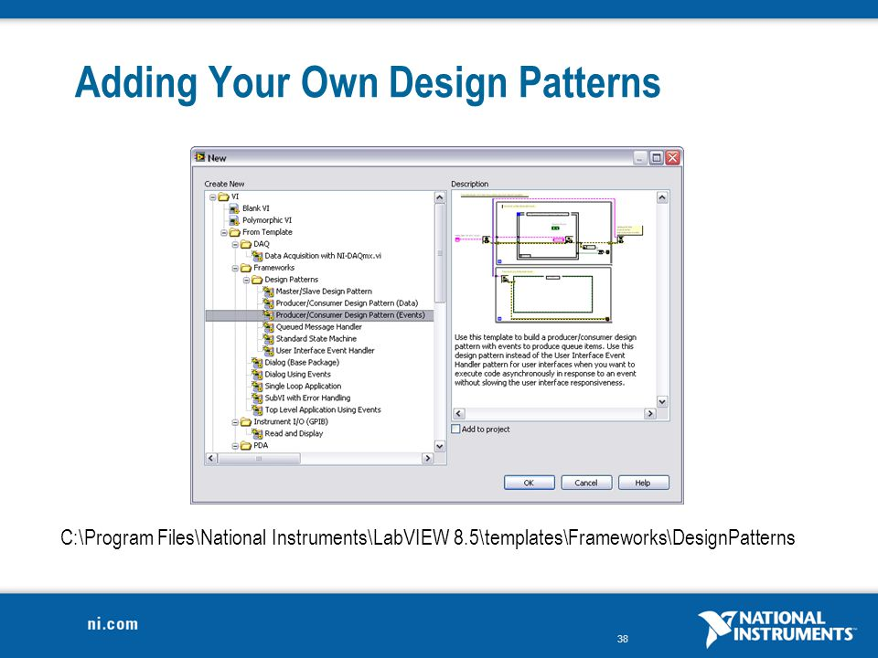 Adding Your Own Design Patterns