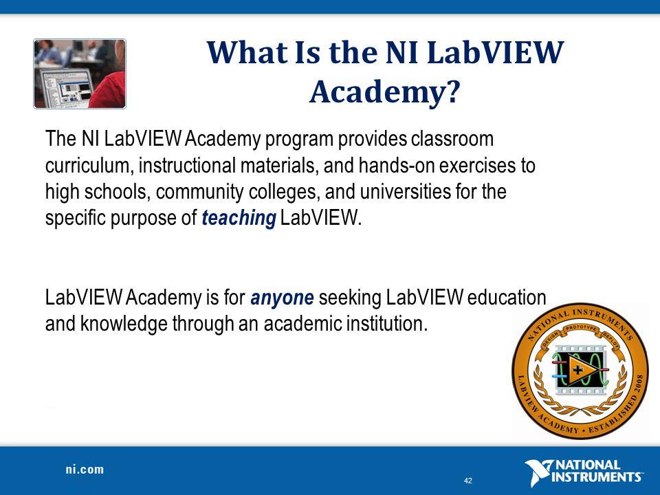 What Is the NI LabVIEW Academy