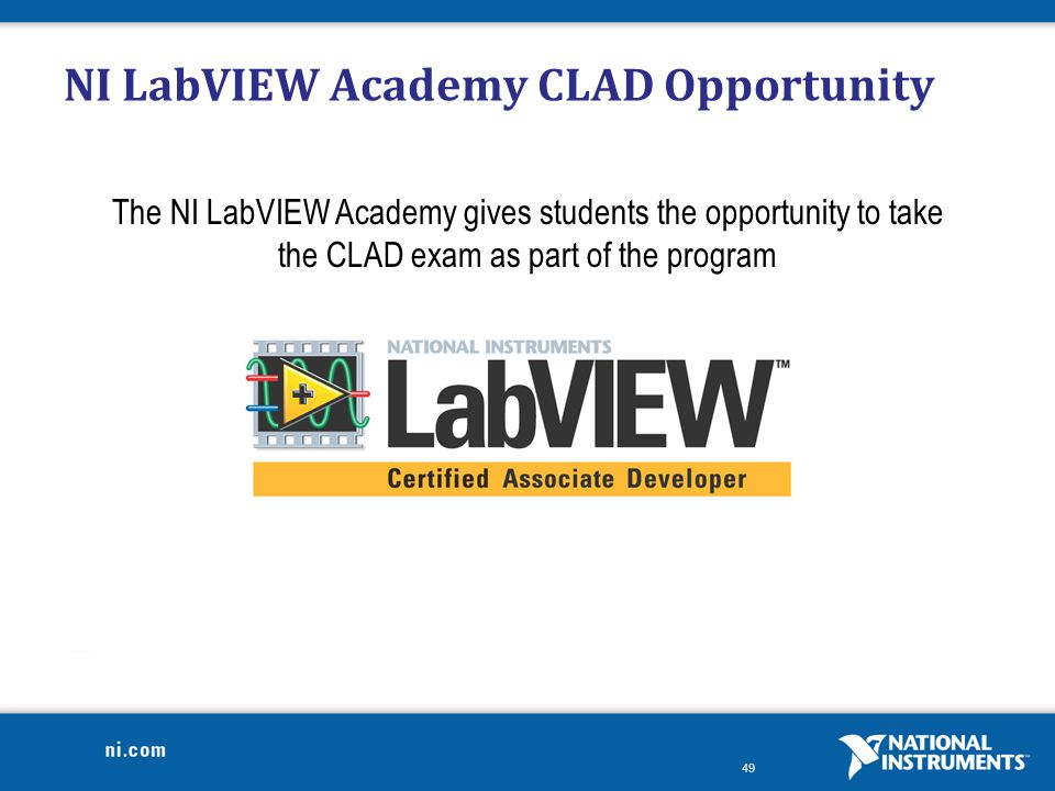 NI LabVIEW Academy CLAD Opportunity