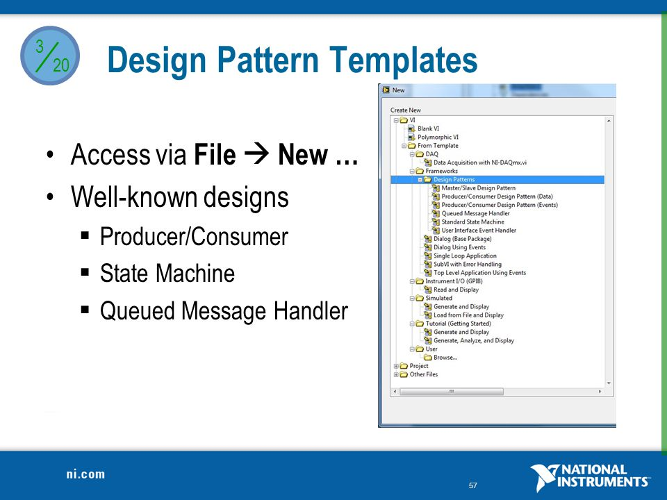 / Design Pattern Templates Access via File  New … Well-known designs