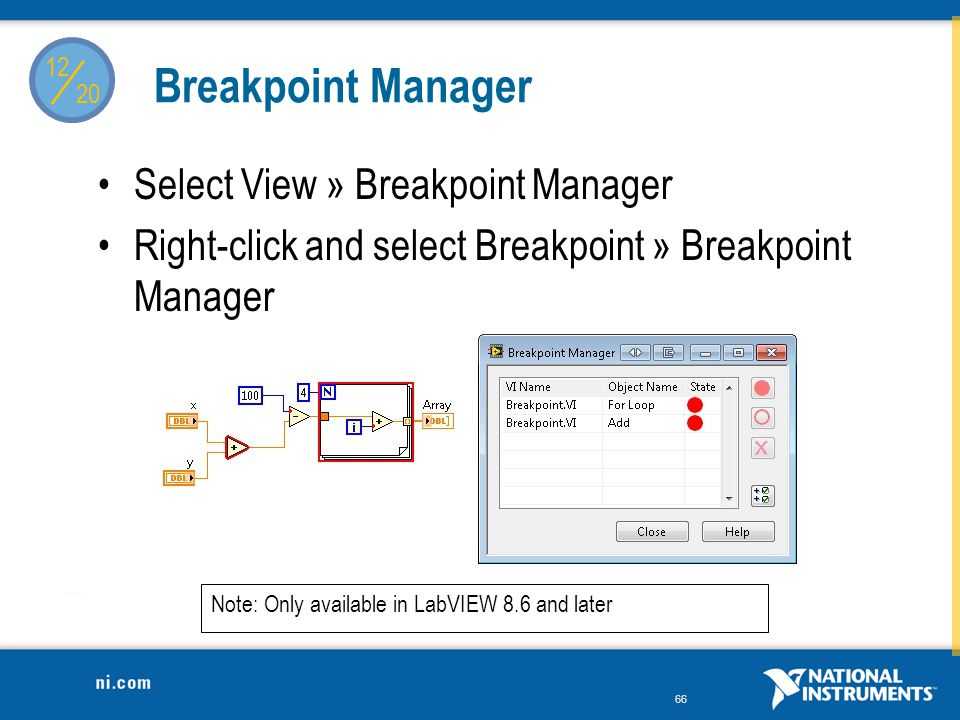 / Breakpoint Manager Select View » Breakpoint Manager