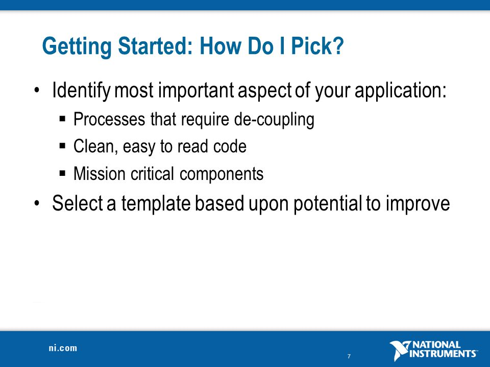 Getting Started: How Do I Pick