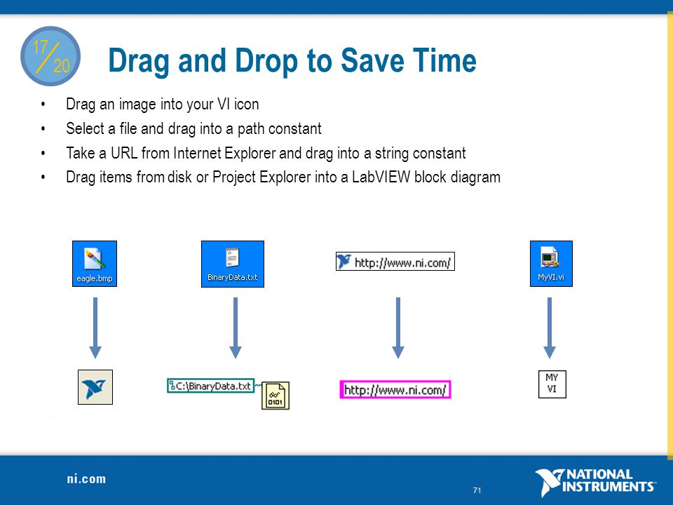 Drag and Drop to Save Time