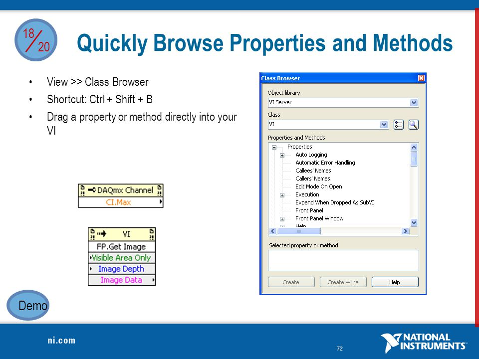 Quickly Browse Properties and Methods