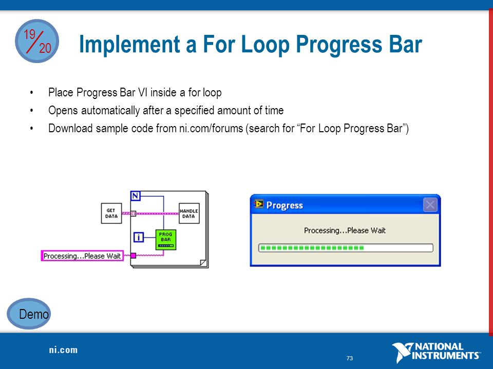 Implement a For Loop Progress Bar