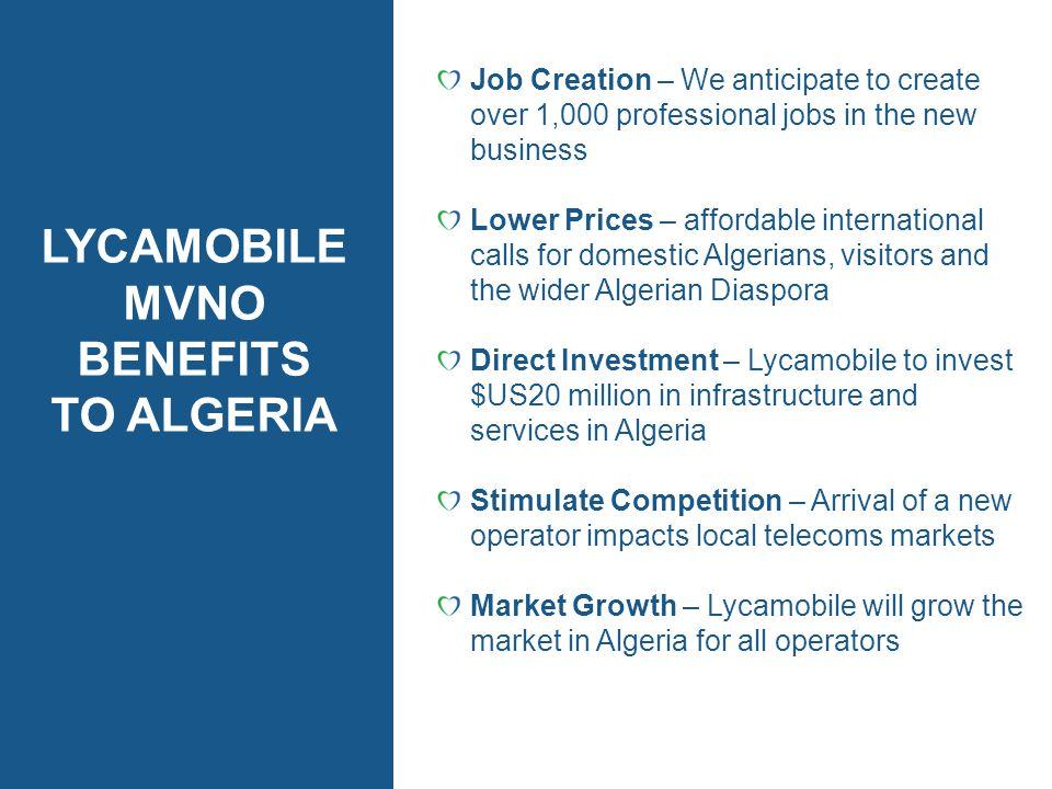 LYCAMOBILE MVNO BENEFITS TO ALGERIA