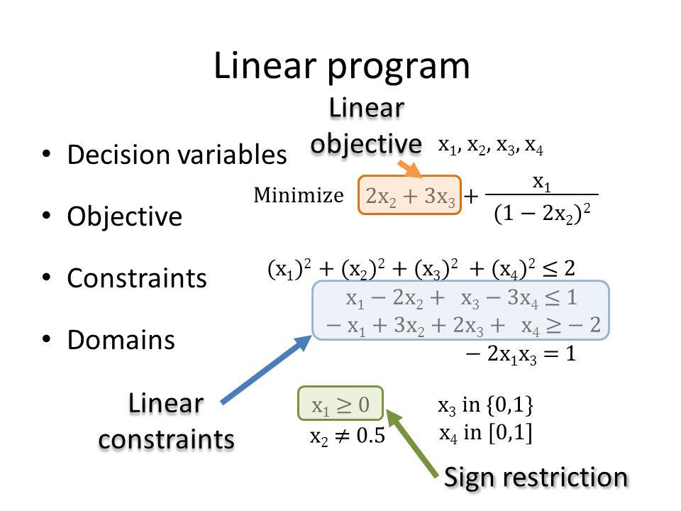 Formulating an optimization problem