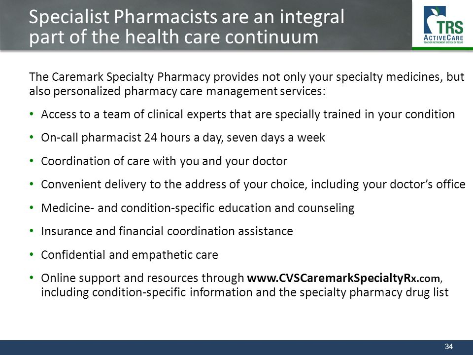 Specialist Pharmacists are an integral part of the health care continuum