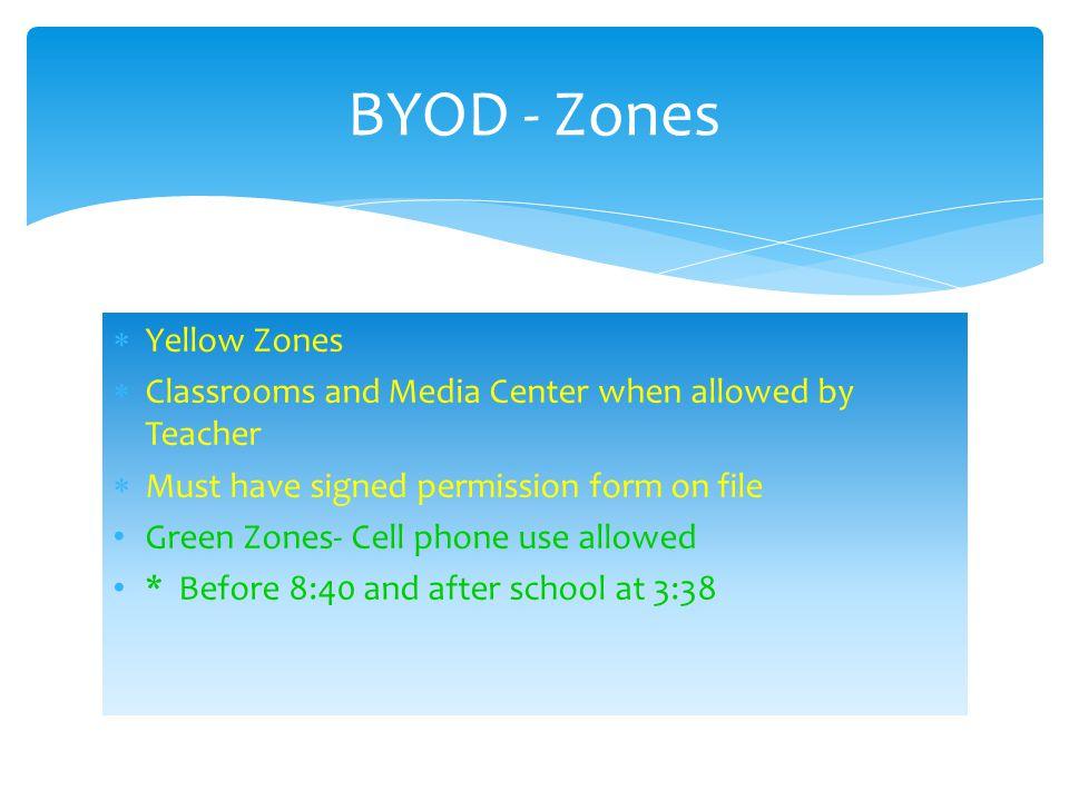 BYOD - Zones Yellow Zones