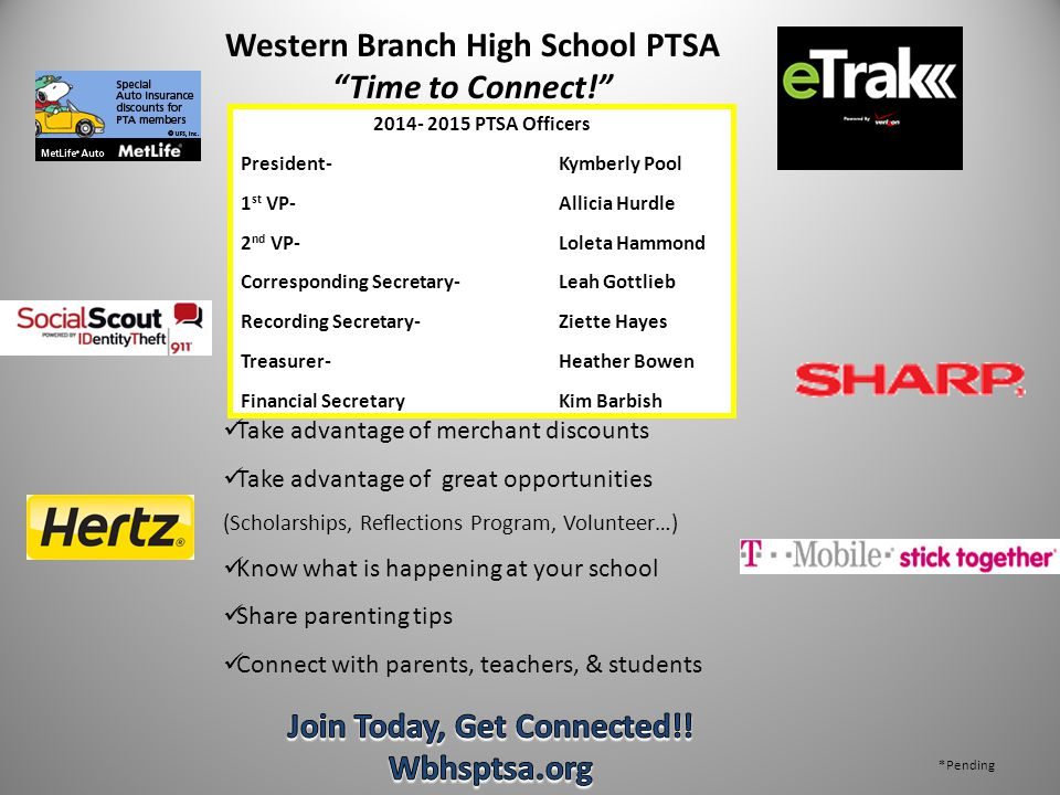 Western Branch High School PTSA Join Today, Get Connected!!