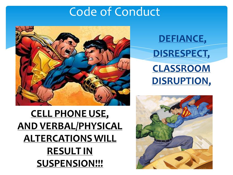 AND VERBAL/PHYSICAL ALTERCATIONS WILL RESULT IN SUSPENSION!!!