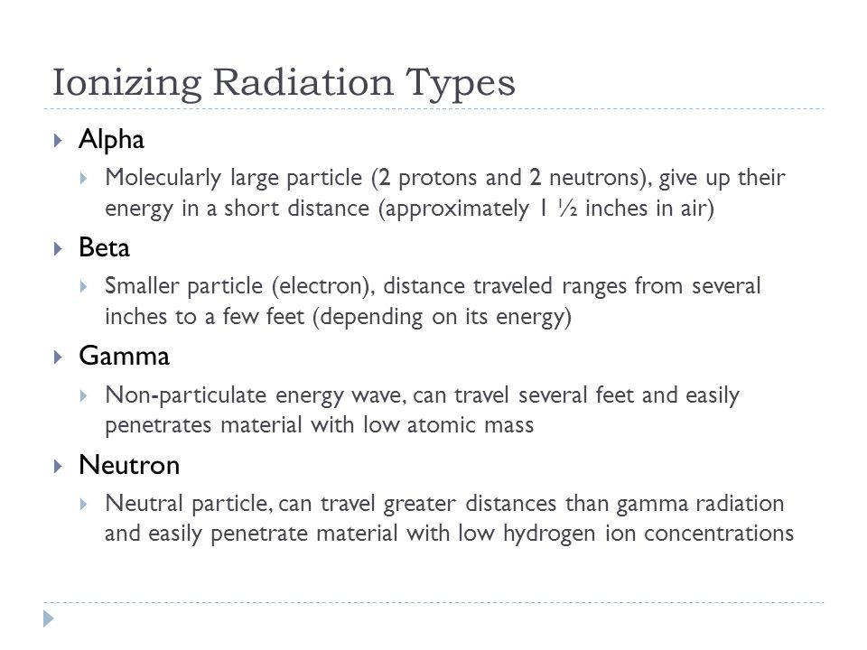Ionizing Radiation Types