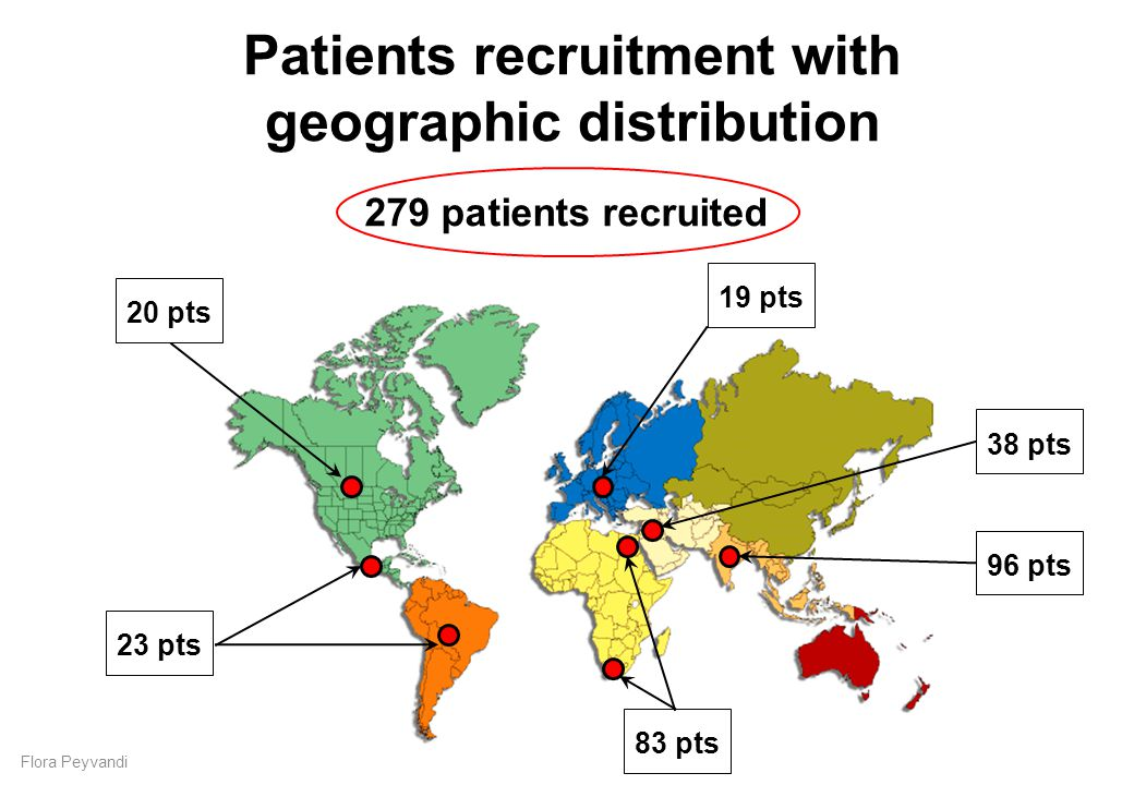 Patients recruitment with geographic distribution