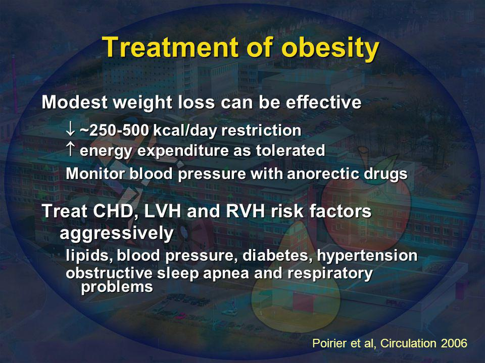 Treatment of obesity Modest weight loss can be effective