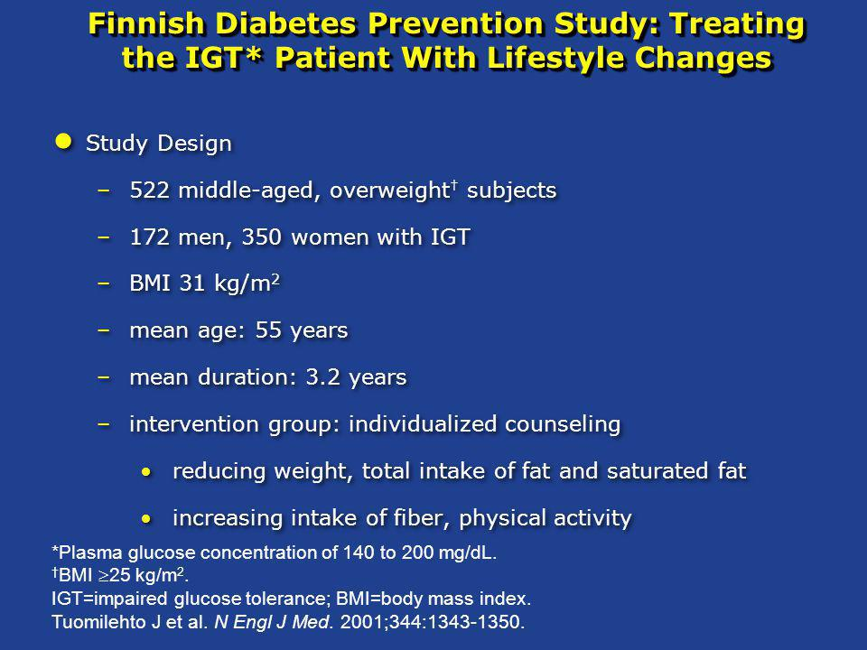 Finnish Diabetes Prevention Study: Treating the IGT