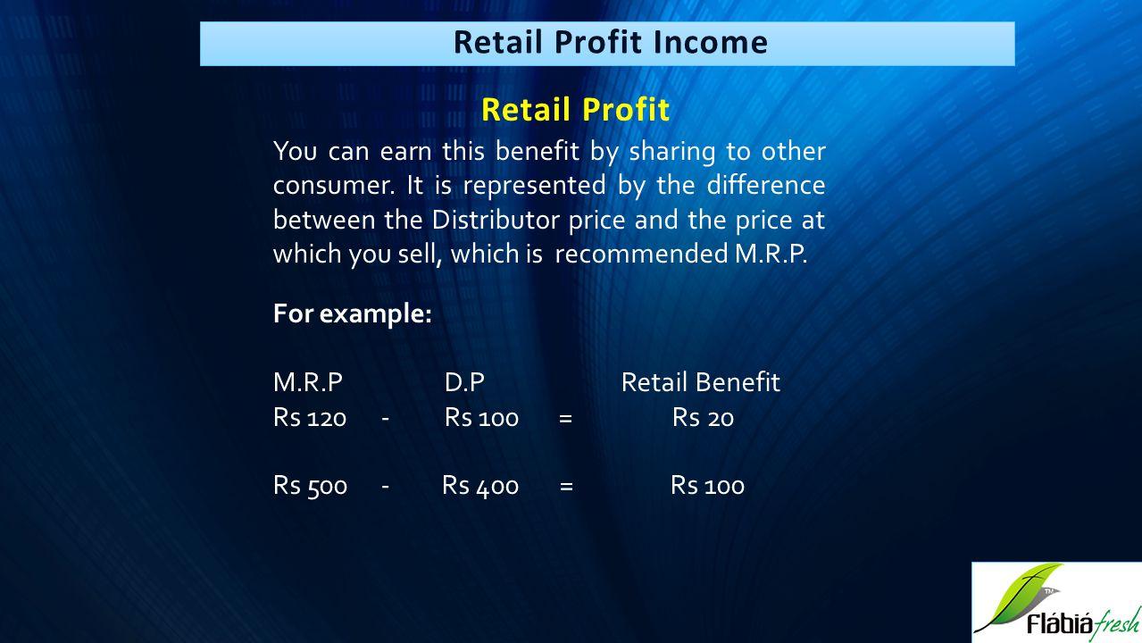 Retail Profit Income Retail Profit