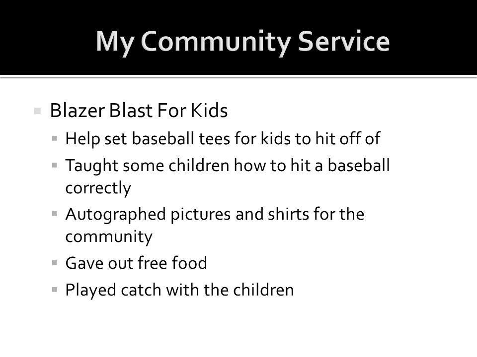 My Community Service Blazer Blast For Kids