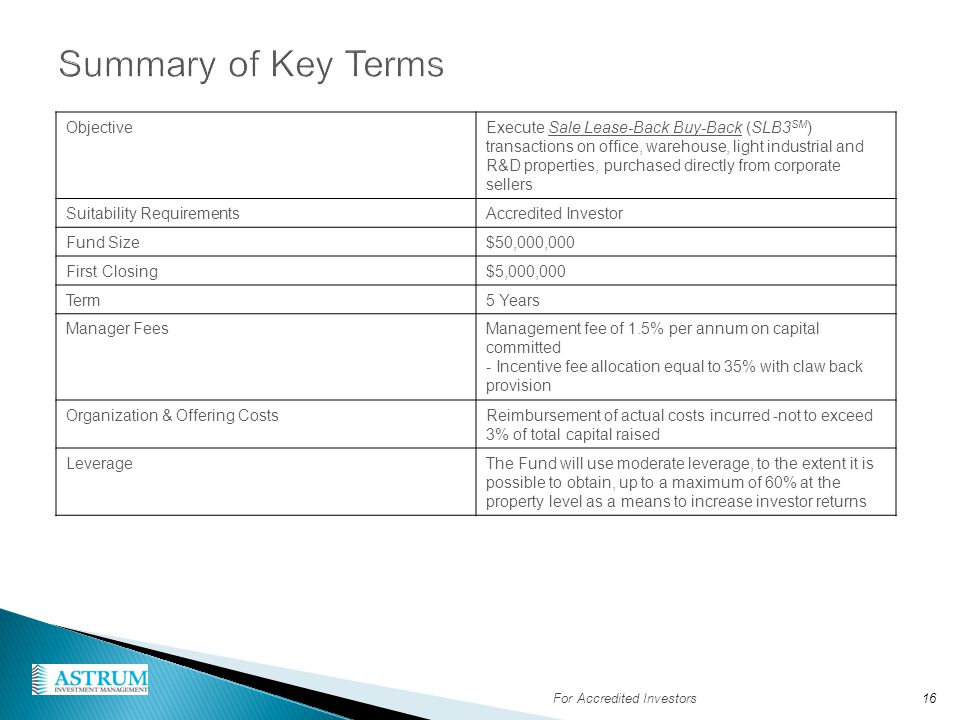 Summary of Key Terms Objective