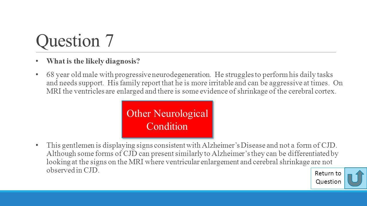 Other Neurological Condition