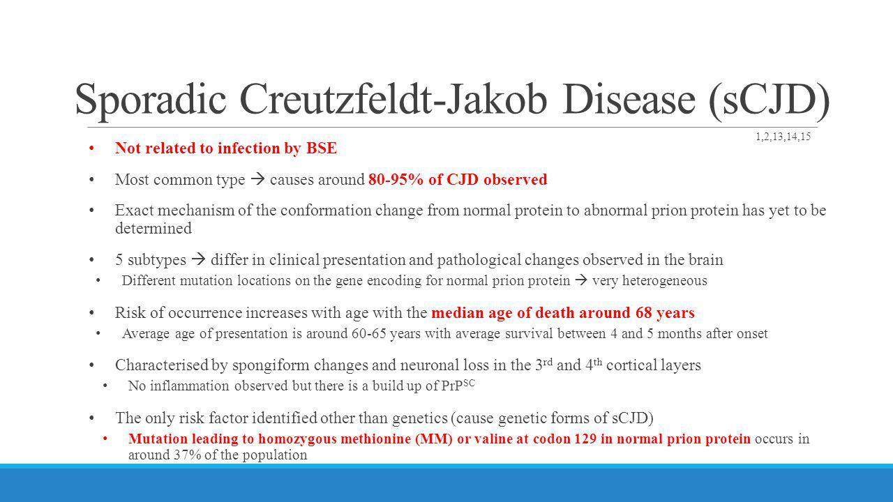 Sporadic Creutzfeldt-Jakob Disease (sCJD)