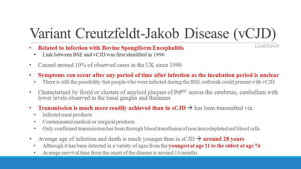 Variant Creutzfeldt-Jakob Disease (vCJD)