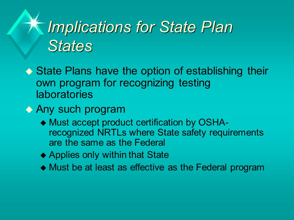 Implications for State Plan States