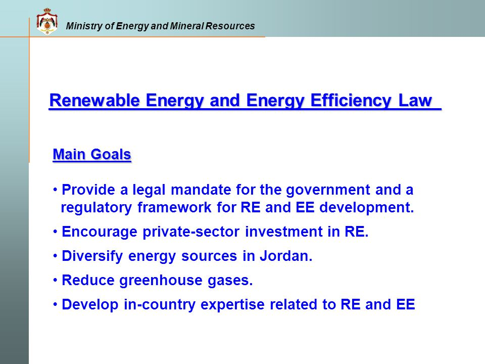 Renewable Energy and Energy Efficiency Law