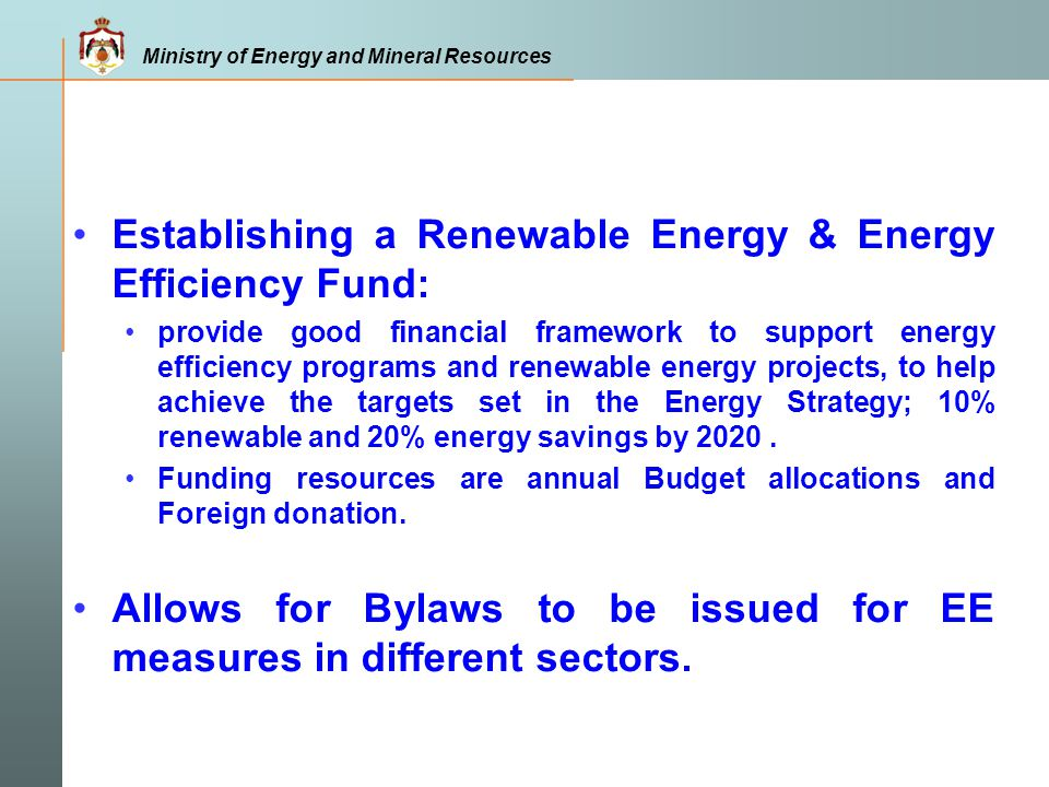 Establishing a Renewable Energy & Energy Efficiency Fund: