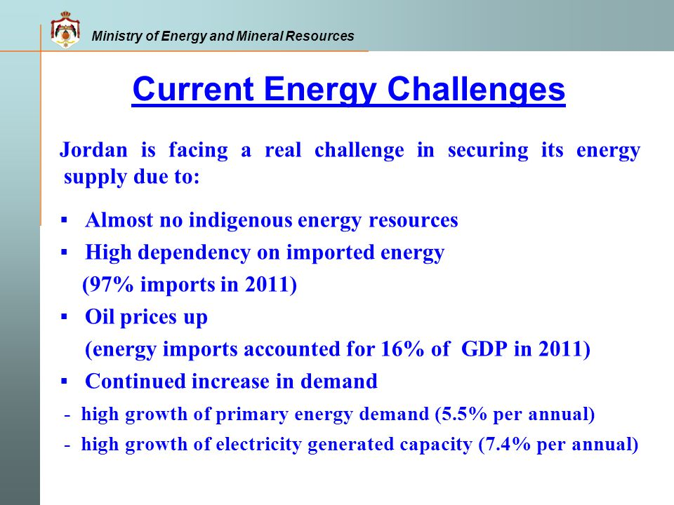 Current Energy Challenges