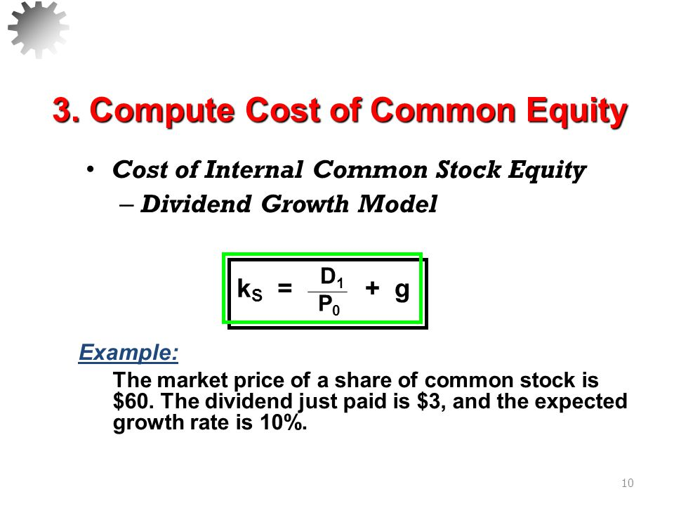 3. Compute Cost of Common Equity