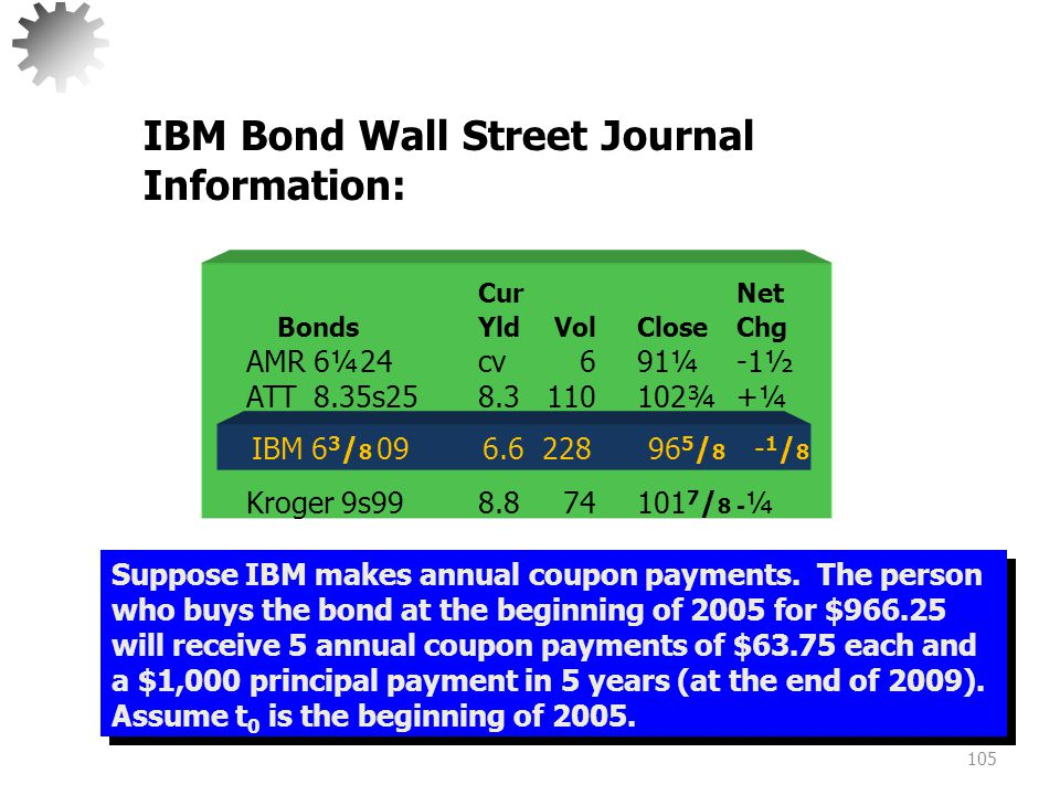 IBM Bond Wall Street Journal Information: