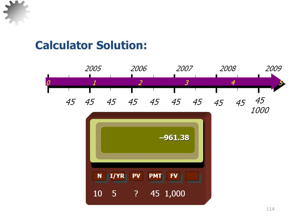 Calculator Solution: 0 1 2 3 4 5.
