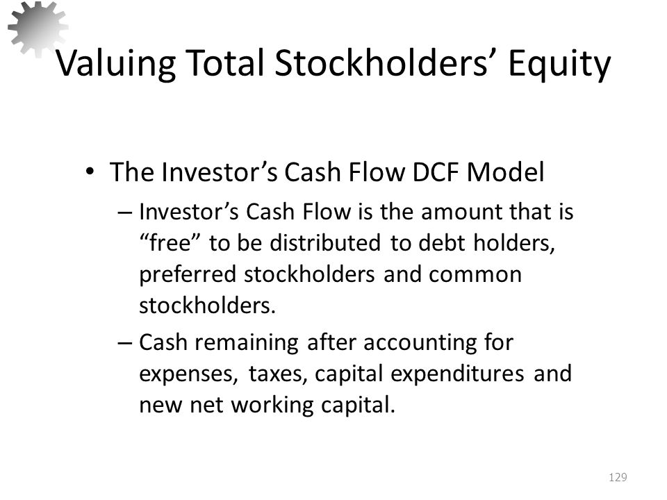 Valuing Total Stockholders' Equity