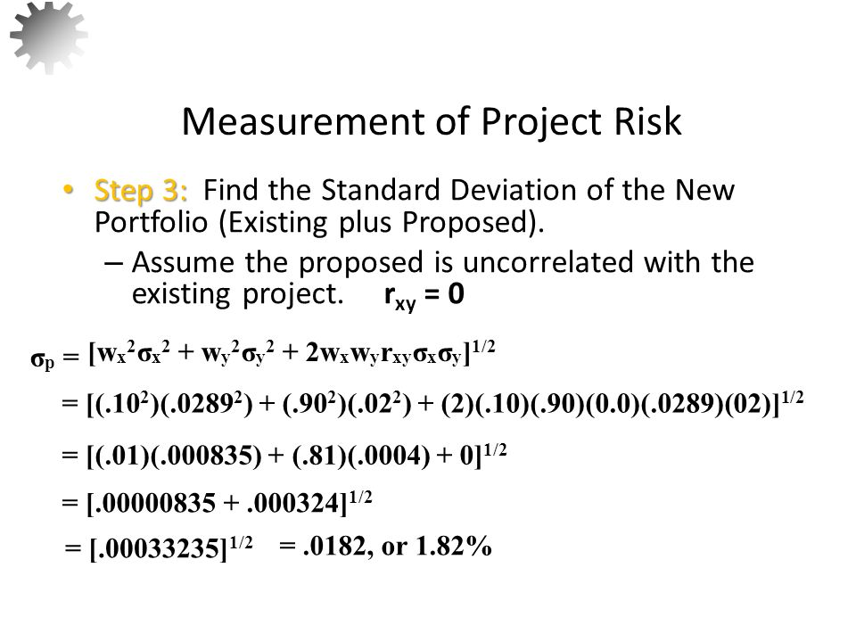 Measurement of Project Risk