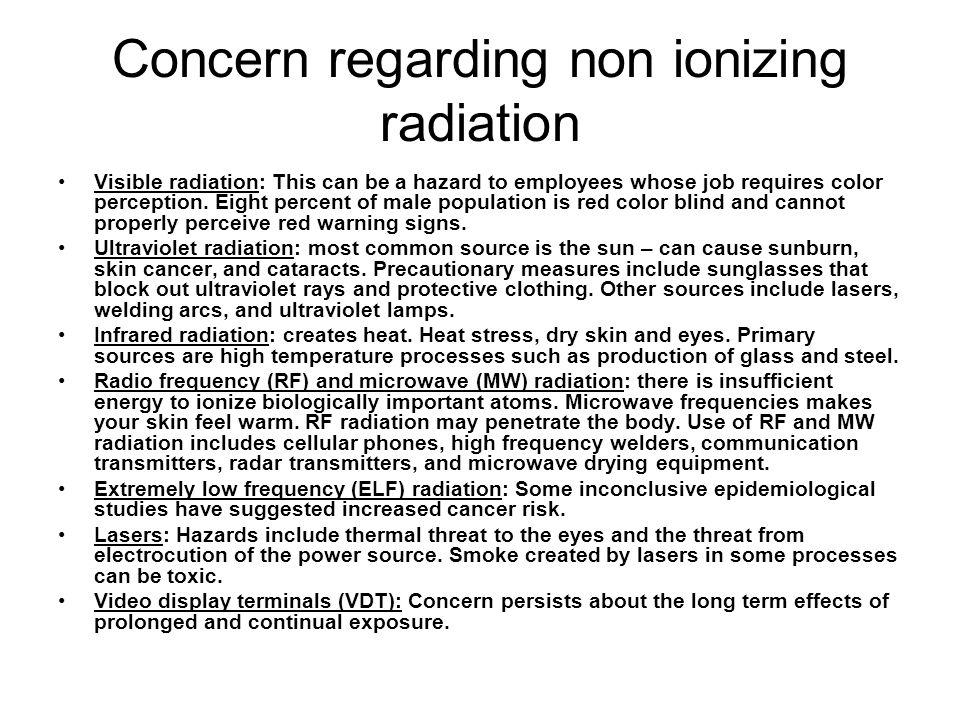 Concern regarding non ionizing radiation
