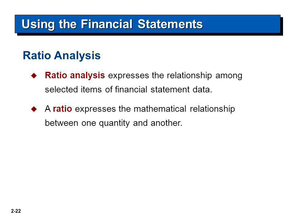 Using the Financial Statements
