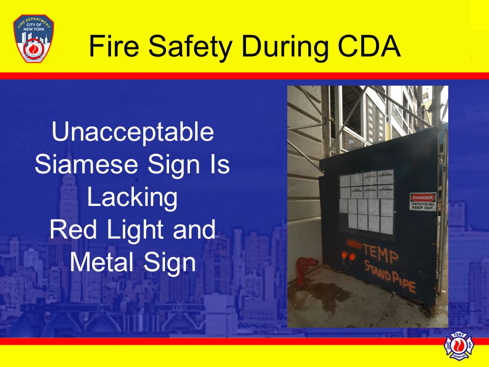 Unacceptable Siamese Sign Is Lacking Red Light and Metal Sign