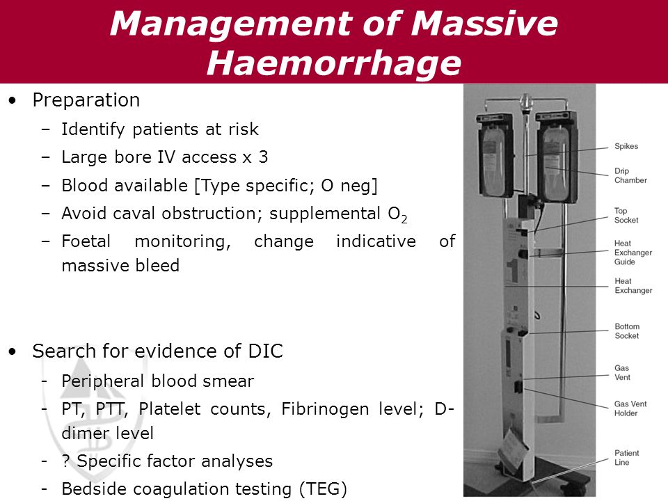 Management of Massive Haemorrhage